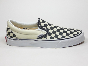 кеды слипоны Vans Black and White Checkerboard / White (101)