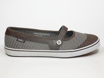 кеды балетки Vans Loni (Stripes) Chocolate Brown (110)