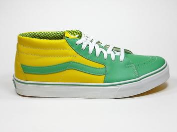 кеды  Vans Skate Mid Leprechaun / True Yellow (112)