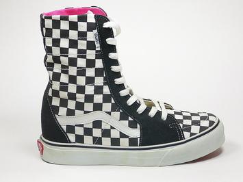 кеды Vans Super Sk8-Hi Black / White Checkerboard (150)