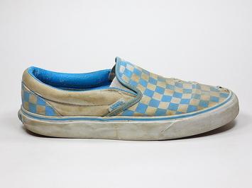 кеды слипоны Vans (checkerboard) Bonnie / True white (155))