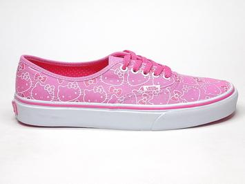 Кеды Vans Authentic (Hello Kitty) Pink/True White (162)